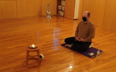 John's Meditation Class in April 2021 at @Yoga Studio in Kichijoji.