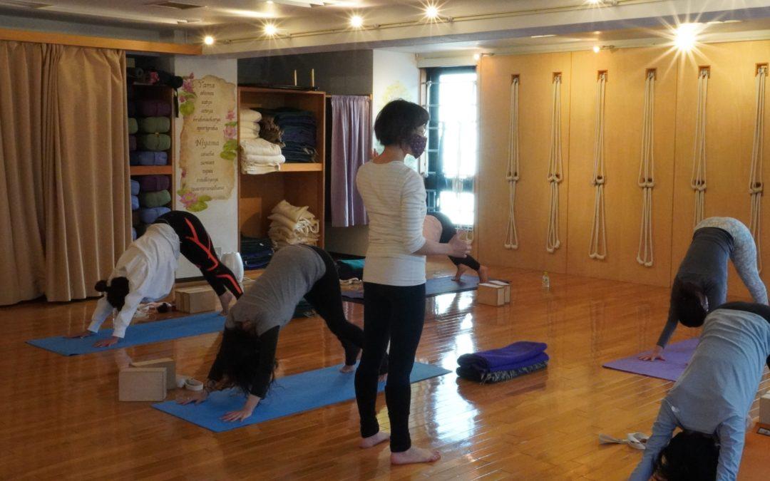 Mari's Yoga Classes in October 2021 at @Yoga Studio in Kichijoji.