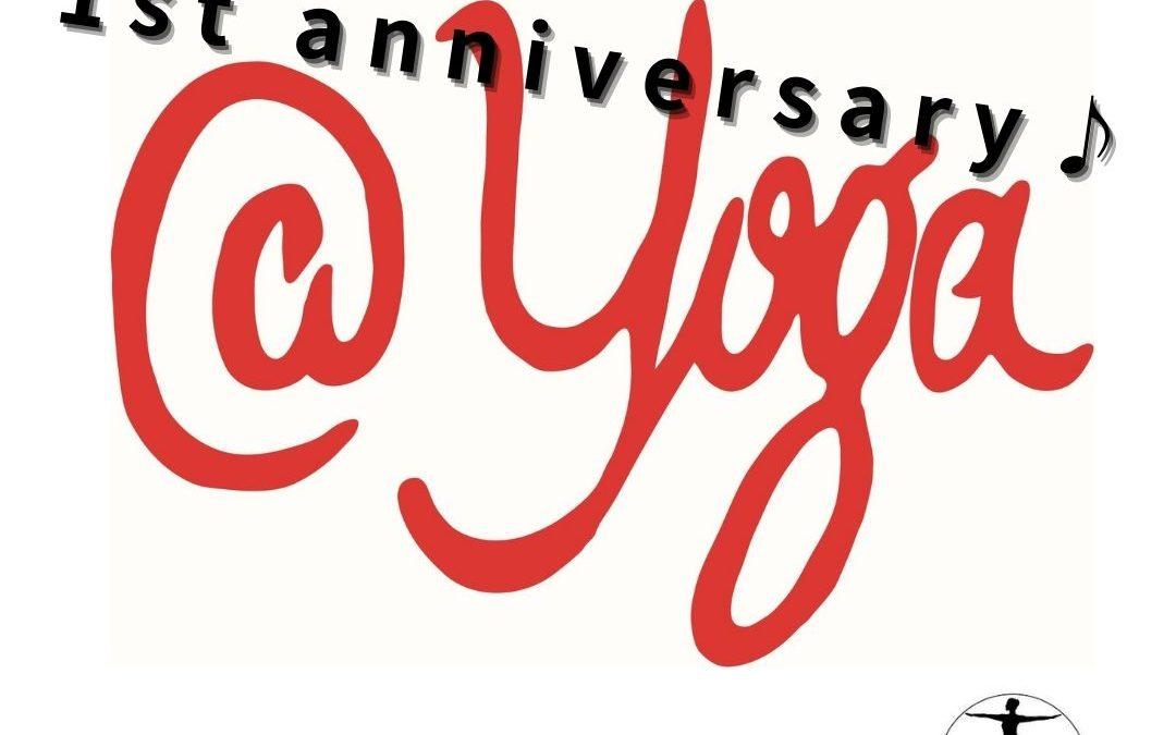 All Yoga Classes in 1st Anniversary at @Yoga Studio in Kichijoji. Special classes available!!